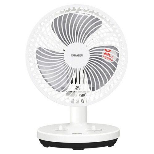 山善 18cm 卓上扇風機 タイマー付 ホワイトブラック YDT-F183(WB) 扇風機 卓上扇 コンセント