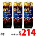 キーコーヒーテトラアイスコーヒー微糖1L×6本