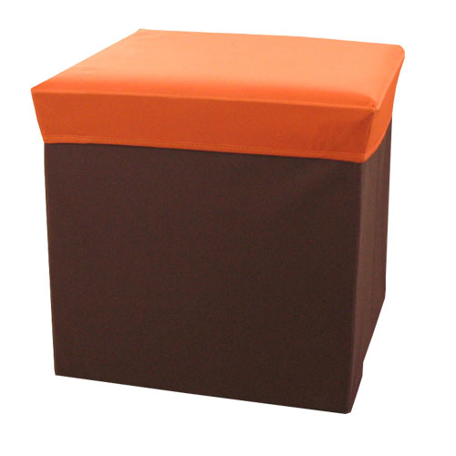 ボックススツール スクエアL(オレンジ)
