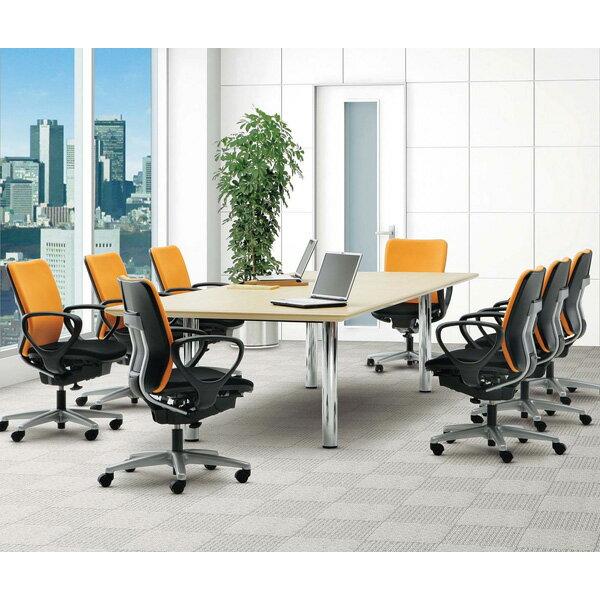 【受注生産品】生興 テーブル BMW型会議用テーブル 舟型 W4000×D1200×H700 BMW-4012B【】 オフィス家具からオシャレ家具まで!木製の高級会議テーブル
