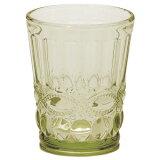 想与盘用一起变得使用的大玻璃杯!共计¥2900日元以上!rifure 玻璃大玻璃杯 绿色【共计¥2900日元以上!】[プレートとお揃いで使いたくなるタンブラー♪ 合計¥2900以上!リフレ ガラスタンブラー グリーン