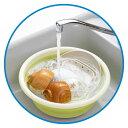 カクセー おりたたみ式洗い桶 丸型 33cm