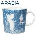 【1月16日15時まで期間限定価格】Arabia アラビア ムーミン マグ 淡雪 ライトスノーフォール Light Snowfall 300ml マグカップ 2018年冬季限定