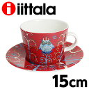 イッタラ iittala タイカ TAIKA コーヒーカプチーノ カップ&ソーサー レッド