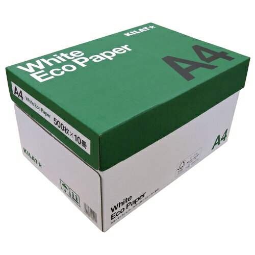 キラット ホワイトエコペーパー A4サイズ 1箱 5000枚 (500枚×10冊)...:onestep:10000644