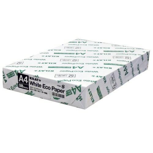 キラット ホワイトエコペーパーA4サイズ 1冊 500枚...:onestep:10013905