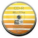 GOOD-J CD-R【10枚】 52倍速 700MB スピンドル ワイドプリンタブル ALCR52X10PW