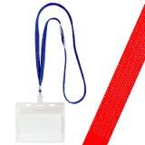 IDカード用吊り下げ名札 安全パーツ付&スライド調整付 赤ひもタイプ 10枚セット
