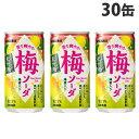 サンガリア 香り爽やか 梅ソーダ 190g×30缶