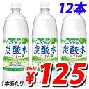 サンガリア 伊賀の天然水炭酸水ライム 1L×12本
