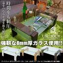 \送料無料/ 8mm強化ガラス製 ディスプレイ ガラスセンタ...