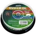 【あす楽対応_関東】【送料500円】HIDISK(ハイディスク) DVD+R DL 8倍速 10枚組 片面2層 HDD+R85HP10