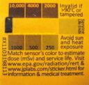 大切な方へ☆放射線測定器 カード シール【メール便で送料無料】【即納】放射能測定シート RADSticker ガイガーカウンター