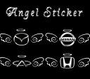 【特価】「送料無料」エンブレム 天使 Angel 3D デコ 立体 車用 くるま ステッカー カー トヨタ ホンダ シール 装飾 外装 カーアクセサリー スズキにもおすすめ
