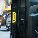 「送料無料」[OPEN]反射シール 安全用品 デコ [1セット4枚] 車用 くるま ステッカー カー 可愛い トヨタ ホンダ シール 赤 黄 愛車のワンポイントアクセントに!大事な家族のために!
