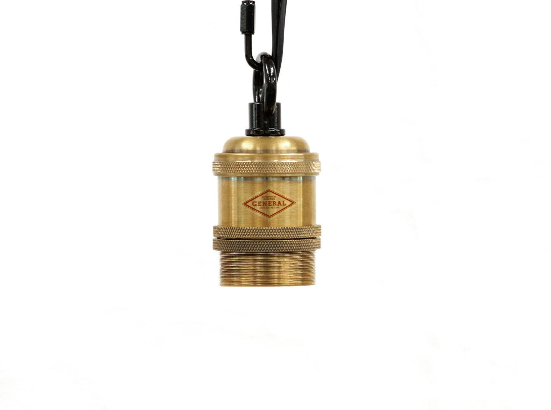 【アンテーク調ペンダントライト】ブランブラン[アンティーク 真鍮 黒] B31C26-10CB 口金:E26 長さ1m ダクトレール用 電球別売 アンティーク照明器具 アンティーク風 アンティーク調 真鍮褐色 引っ掛けシーリング用
