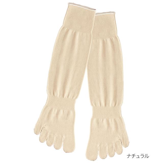 【送料無料】シルクを綿で守る5本指靴下(かかと...の紹介画像2