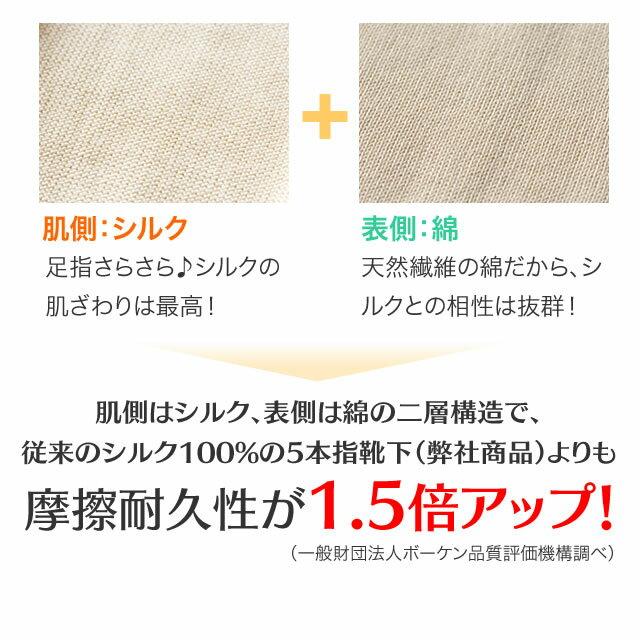 【送料無料】シルクを綿で守る5本指靴下(かかと...の紹介画像3