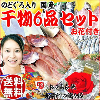 Dried Midyear gift dried set 2014 presents faux GLO stick dried fish dry overnight! Domestic fish 6-assorted bags! Dried fish set early % of horse mackerel mackerel birthday birth 内 祝 I 内 祝 I celebrate 快気祝い preserved flower set