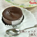 5%還元 しっとり濃厚チョコ 完熟ショコラ 5個入り 蒸し焼きショコラ 冷凍スイーツ バレンタイン ホワイトデー ケーキ大使館クアンカ・ドーネ