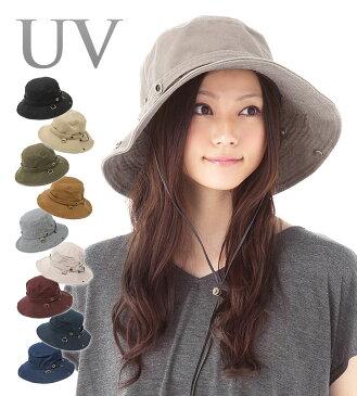 帽子 レディース つば広 UVカット帽子 紫外線対策 サファリハット 「オシャレ度アップ!キュートなシルエットに改良!ひも付き2WAYモデル」 カブロカムリエ CabloCamurie 【MB】