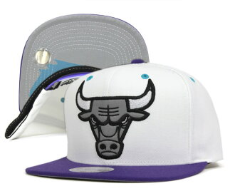 ミッチェルアンドネス Cap snap back Chicago Bulls grapes white hat MITCHELL NESS CAP NBA CHICAGO BULLS GRAPES SNAPBACK WHITE #CP: S