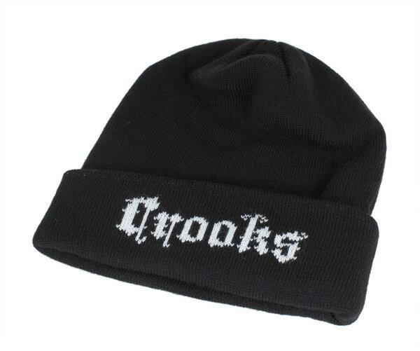 クルックス&キャッスルズ(Crooks&Castles)ニットキャップ ニット帽 ブラック オーダー ビーニー ブラック 帽子 KNIT CAP BLACK ORDER BEANIE BLACK メンズ【MB】