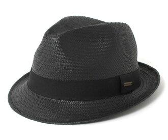 卡瓦列羅色的氊帽帽子菲格雷斯紙稻草黑色帽子 CABALLERO 色的氊帽帽子菲格拉斯紙稻草黑 [大小男裝大草帽稻草秸稈的帽子帽子草編帽子]