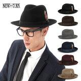 [  ] 帽子 ニューヨークハット 中折れ フェルト ハット フェドラ 全3色 NEW YORK HAT THE LITE FELT FEDORA [ フェルトハット フェドラハッ