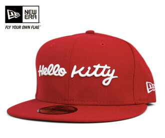 New era x Hello Kitty caps letter Scarlet Hat NEWERA×HELLO KITTY 59FIFTY HK LETTER SCARLET #CP: B #LC
