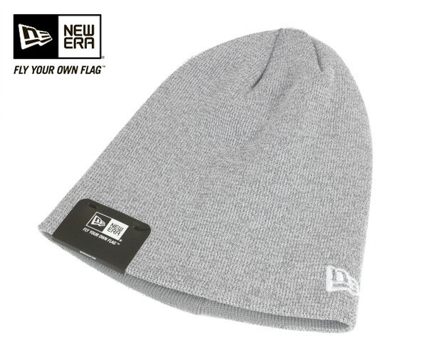 ニューエラ ニット キャップ ニット帽 ベーシック ビーニー リフレクター グレー 帽子 NEWERA KNIT CAP BASIC BEANIE REFLECTOR GRAY