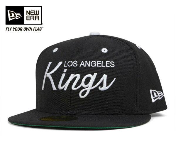 ★ニューエラ キャップ ロサンゼルス キングス ブラック 帽子 NEWERA 59FIFTY CAP NHL LOS AGELES KINGS BLACK