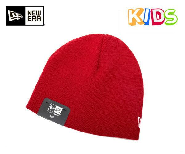 ニューエラ キッズ ニットキャップ ベーシック ビーニー スカーレット ニット帽 NEWERA KIDS KNIT CAP BASIC BEANIE SCARLET