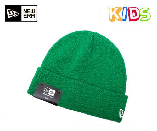 ニューエラ キッズ ニットキャップ ベーシック カフ ケリー ニット帽 NEWERA KIDS KNIT CAP BASIC CUFF KNIT KELLY