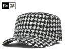 【オンスポッツ別注】NEW ERA(ニューエラ) ワークキャップ WM-01 ハウンドトゥース ブラック | ONSPOTZ ORIGINAL HOUNDSTOOTH BLACK | 帽子 メンズ ミリタリーキャップ #CP:W