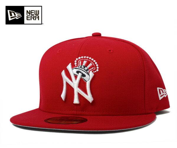 ★ニューエラ キャップ ニューヨーク ヤンキース クラウン スカーレット 帽子 NEWERA 59FIFTY CAP NEW YORK YANKEES CROWN SCARLET