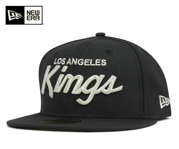 ★ニューエラ キャップ ロサンゼルス キングス ブラック 帽子 NEWERA 59FIFTY CAP NHL LOS ANGELES KINGS BLACK