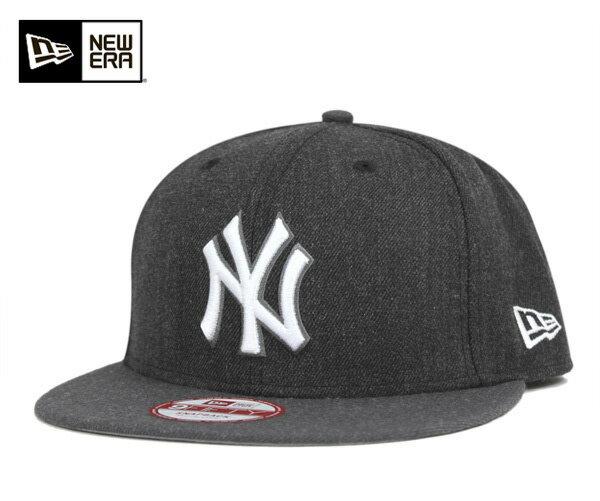 ★ニューエラ スナップバック キャップ ヘザー アクション ニューヨーク ヤンキース ヘザー ブラック 帽子 NEWERA 9FIFTY SNAPBACK CAP NEW YORK YANKEES HEATHER BLACK