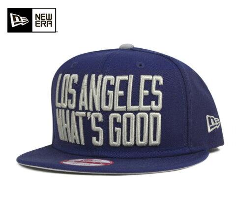 NEW ERA(ニューエラ) 9FIFTY キャップ スナップバック ワッツ グッド ロサンゼルス ロイヤル 帽子 WHATS GOOD LOS ANGELES ROYAL