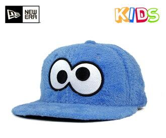 芝麻的街頭兒童管理單元背蓋臉遠餅乾怪獸藍帽子紐埃爾 × 芝麻的街頭兒童 9FIFTY 業績回升帽臉毛皮餅乾怪獸藍色 x 的新時代