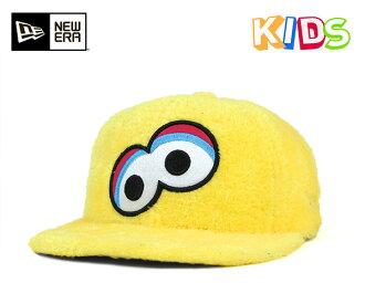 芝麻的街頭兒童管理單元背蓋臉毛皮大鳥芝麻的街頭兒童 9FIFTY 業績回升帽臉毛皮大鳥黃色黃色帽子紐埃爾 × x 的新時代