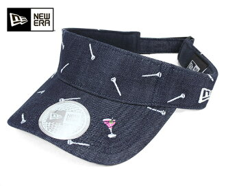 [男式帽子,新時代高爾夫遮陽會標三通靛藍牛仔帽紐埃爾高爾夫太陽遮陽會標三通靛藍牛仔布