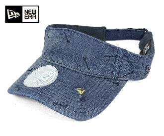 [男式帽子,新時代高爾夫遮陽會標三通洗牛仔帽紐埃爾高爾夫太陽遮陽會標 TEE 水洗牛仔布