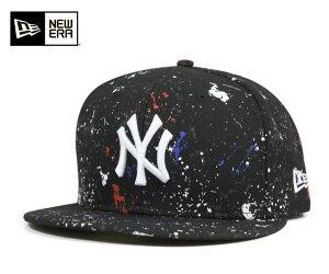 キャップ ニューヨーク ヤンキース スプラッシュ プリント ブラック