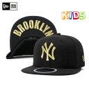 ニューエラ キッズ キャップ ニューヨークヤンキース アンダーバイザー ブルックリン ブラック 帽子 NEW ERA KIDS 59F…