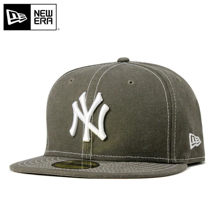 ニューエラ キャップ 59FIFTY ダック MLB ニューヨークヤンキース グリーン ウォッシュ加工 NEW ERA
