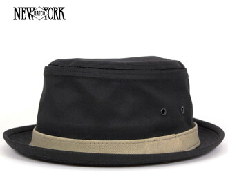 New York Hat cotton スティンジー black NEW YORK HAT COTTON STINGY BLACK