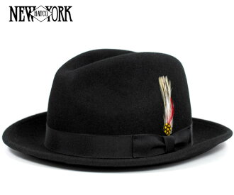New York Hat Black NEW YORK HAT THE FEDORA BLACK