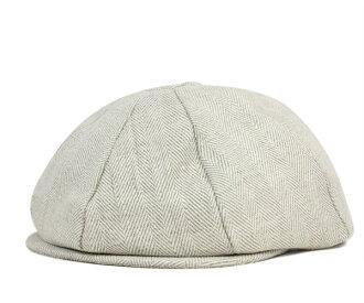 紐約帽子報童亞麻人字蓋茨比棺材燕麥片帽子紐約帽子 CASQUETTE 亞麻人字蓋茨比燕麥 #CQ [大報童帽子帽大小男裝女裝],[WH]