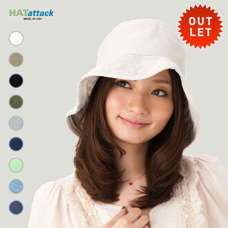 Washed cotton HAT ATTACK LADIES WASHED COTTON CRUSHER HAT and Crusher Hat #WN Hat Hat attack: H #WN: U